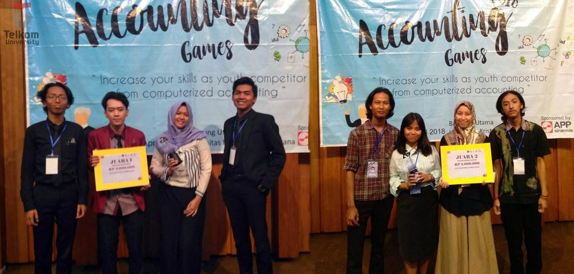 2 Tim Telkom University Sabet 2 Juara Accounting Games 2018